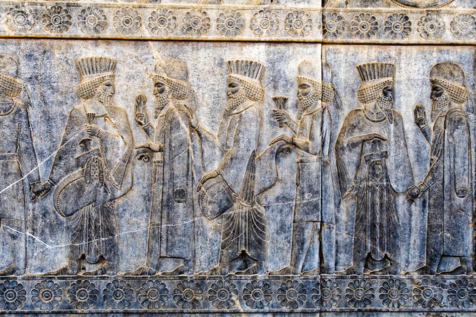 Procession of Median and Persian dignitaries, Persepolis, circa 500 BC